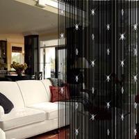 7 Colors 2mx1m Romantic String Door Curtain Room Divider Window Curtain Panel With 3 Beads Decorative Elegant