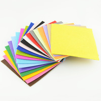free shipping 2MM thick 20 colors/lot 15CMX15CM Polyester felt fabric pack pre-cut nonwoven needle-punched DIY Craft Cloth CL1