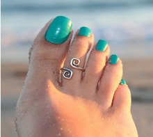 Women and girs Unique Retro Silver Plated Nice Toe Ring Foot Beach Jewelry Hot selling
