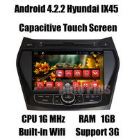Android 4.2.2 Car GPS Navi for Hyundai IX45 Santa fe 2013 +CPU 1G Mhz +RAM 1GB + iNand flash 8GB +Built-in Wifi Free shipping
