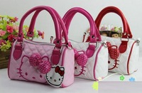 5pc/lot Hot Sale Fashion Hello kitty  children's  Kid's princess girl's favor handbag tote bag shoulder bag  KD80305