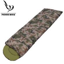 2014 real venda bolsa termica grátis frete camping adulto saco de dormir fornecimento de fábrica camuflagem digital com capuz envelope 1.1 kg(China (Mainland))