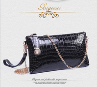 Promotion 2014 New Arrival Genuine Leather Crocodile Women Handbag Shoulder Bag Messenger Bag Day Clutch Handbag Desigual C017