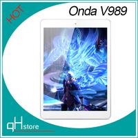Free Shipping Onda v989 Tablet 9.7 inch Retina Screen Allwinner A80T Octa Core 2048*1536 Android 4.4 2GB/32GB 8000mAh USB 3.0