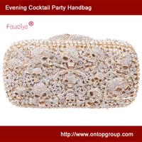 Skull pattern high class party clutch handbag - evening skull clutch bags - dinner party handbag