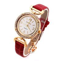 Women Dress Watches Fashion New 2014 Analog Ladies Quartz Watch Vintage Smart Wristwatches Moon Pendant women Rhinestone watch