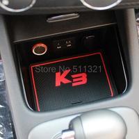 Fit For KIA k3 rubber door gate slot pad/mat, non slip door tank gasket , cup mat/pad accessories decorative 12PCS 2012-2015