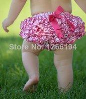 2014 Hot Pink Zebra Satin Ruffle Baby Bloomers Fashion Newborn Baby Shorts Infantil Ruffled Panties Baby Girls Free Shipping