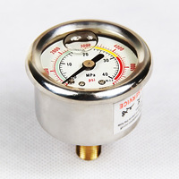 High Pressure 40Mpa/6000 PSI  PCP Pump Pressure Gauge With M10 Fixed Copper Screw