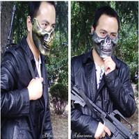 CS Skull Skeleton Half Face Mask, Toys, Outdoor Hunting, Halloween Mask, Carnival Terror Mask, Horror Mask, Terrible, Horrible