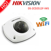 Free shipping Hikvision mini network dome camera DS-2CD2512F-IWS audio Wifi 1.3MP explosion proof Network security cctv camera