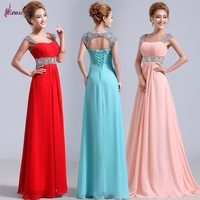NSD-0066 2015 New Arrival Straps Empire Design Beaded Sexy Evening Dress Gown On Sale vestidos longos