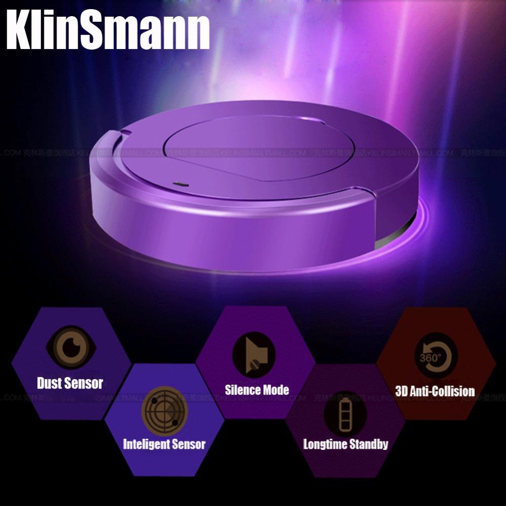Klinsmann Brand 2014 Mini Intelligent Robot Vacuum Cleaner Smart Household Vacuum Cleaner Auto Sensor Quiet Efficient CE&ROHS(China (Mainland))
