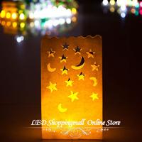 10pcs/lot  flame retardant paper candle bag Luminary Bag/ fireproof Lantern bag for wedding birthday party Decoration