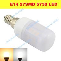 E14 4W  27LEDs SMD 5730 LED Corn Bulb Lamp With  Milk White Corn AC DC 12V 24V Cool white/Warm white led lighting