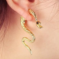 E010 manufacturers selling European fashion Personality punk snake ear, earrings, New Arrival !!!