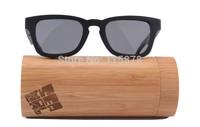 Free Shipping !!! Eco-friendly Sunglasses High Quality Wood(Ebony+Aluminum+Pear Wood) Sunglasses Polariod Lense-6028