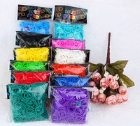 Trail order DIY 17 Colors candy Loom Refill Rubber Bands (600band +24 clips ) Fashion accessory