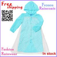 New stlye Frozen Rain Coat children Raincoat Rainwear/Rainsuit,Kids Waterproof Frozen Elsa Raincoat Children's cartoon poncho