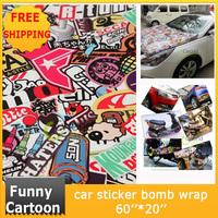 Cartoon 60*20 inch Car Sticker Bomb Wrap Car guard film protector