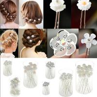 Fashion 20PCS Lots Wedding Bridal Crystal Faux Pearl Flower Hairpin Hair Clip Bridesmaid 6Style U choose JH03006-JH03011-ka