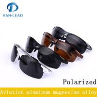 2015 new Fashion Aluminum and Magnesium Alloys Frame Polarized   sunglass  Men Brand Designer Glass Polaroid Sport Sunglasses