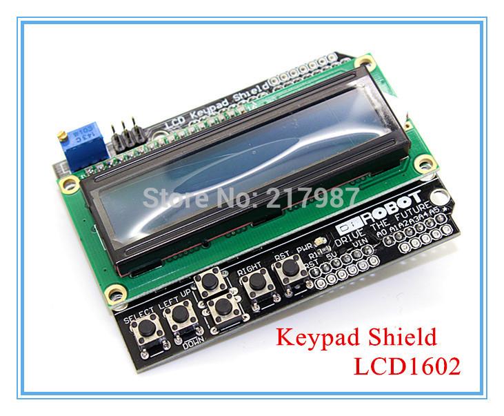 Free Shipping LCD Keypad Shield LCD1602 LCD 1602 Module Display ATMEGA328 ATMEGA2560 Raspberry pi UNO Blue Screen(China (Mainland))