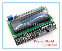 Free Shipping LCD Keypad Shield LCD1602 LCD 1602 Module Display ATMEGA328 ATMEGA2560 Raspberry pi UNO Blue Screen