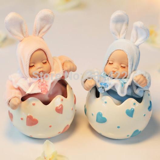 Coelho do bebê caixa de cabeça bobble caixa de música música boneca de cerâmica namorada presente de aniversário presentes(China (Mainland))