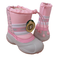 2014 Elastic Cord Snow boots baby girl Snow Boots Leather Children Shoes Boots girl Waterproof Baby Shoes children boots girl