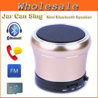 Mini Bluetooth Speaker Jar Metal Steel Wireless Subwoofer Speaker With Hands-free FM Radio Support Sound Card For Phone Computer