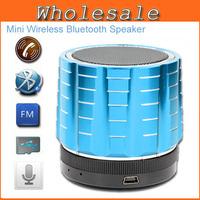 2014 New FM Radio Mini Bluetooth Speakers Jar Metal Steel Wireless Subwoofer Portable Audio Player Sound Card Speaker For Phone