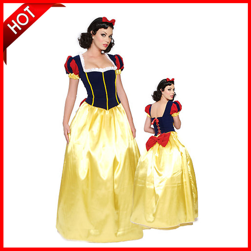 Free Shipping Fast Dilivery High Quility Halloween Costumes Snow White Party Dress(China (Mainland))