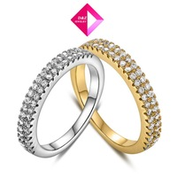 2014 new 18K gold / white gold double diamond ring,wedding rings for women fashion Jewelry Ring Series