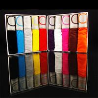 Free shipping 3pcs/lot modal men's boxer underwear breathable mid-waist pants