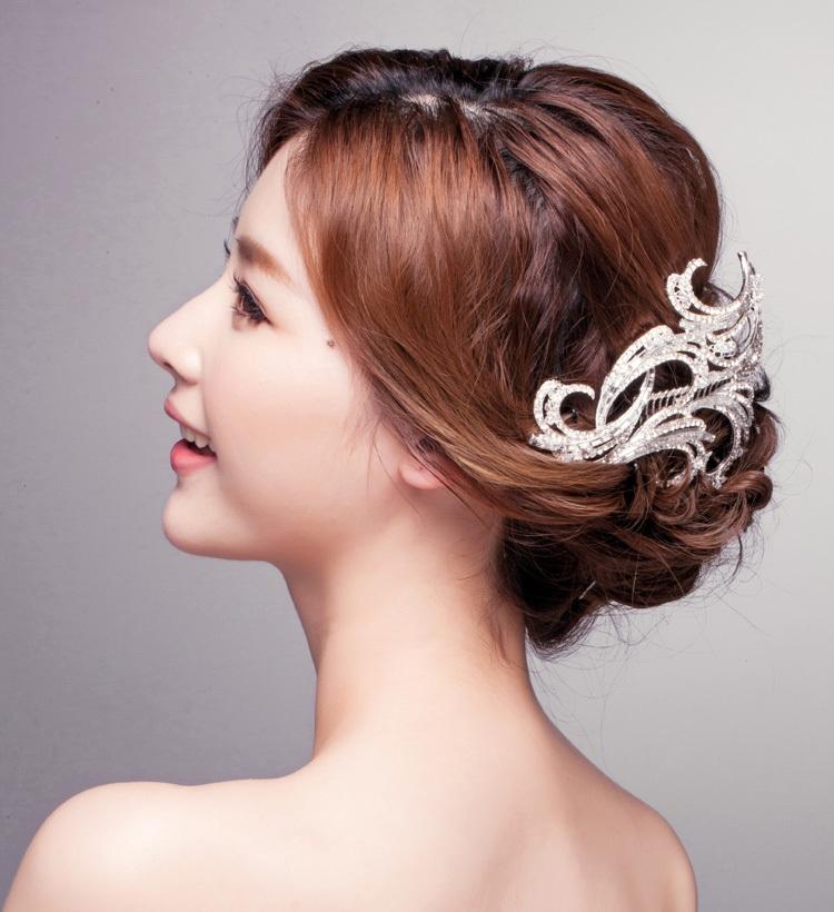 Rhinestone Bridal Hair Comb Tiara Noiva Metal Wedding Hair Combs Vintage Bride Crown Headpiece Tiaras Hair Accessories WIGO0336(China (Mainland))