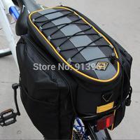 Bicycle Bike Bag 13L 600D Waterproof Cycling Rear Seat Bag Trunk Bag Handbag Bicycle Bags & Panniers Black Accessories Bicycle