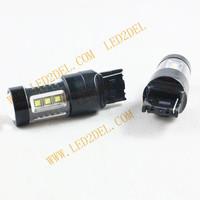 10x LED T20 7443 W21 16smd 80W Fog lamps car Brake Lights Bulb Auto Tail Led Bulb Light