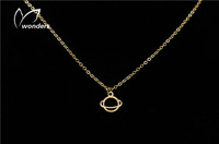Stainless Steel Jewelry For Men's ball vintage Saturn Necklace Silver Chain Length 45cm