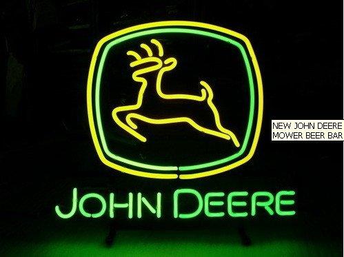 """Revolutionary Neon Gifts Super Bright John Deere Neon Beer Sign Neon Sign Neon Light Beerbar Sign19""""x15""""(China (Mainland))"""
