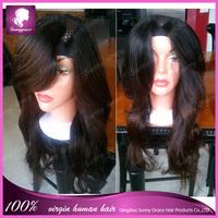 Top quality unprocessed brazilian virgin hair u part wig natural black human hair u part wig for black women free shipping