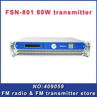 FSN-801 80W FM Transmitter broadcasting  for fm radio station  new panel  Free Shipping