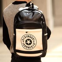 Free shipping wholesale 2014 new men's casual waterproof travel bags school bags women retro PU leather shoulder bag backpacks