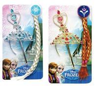 Original Frozen Elsa Anna Ornaments Briad Sets Braid Crown Magic Wand Sets Rhinestone Crown Hair Band frozen dress accessories
