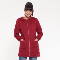Long Style Letter Printed Hoody Cotton Lady Winter Jacket Size M-2XL Street Women Casual Warm Coat