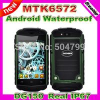 100% Original Doogee DG150 Waterproof dustproof outdoor Mobile phone MTK6572 Dual Core Dual Sim 3.5inch Capacitive Android 4.2