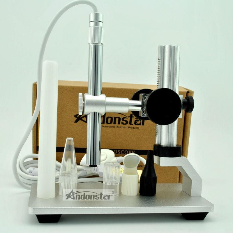 nouveau 2mp usb microscope numérique vidéo caméra de réparation outil loupe horloger cam avec support en métal