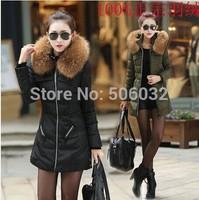 "2014 jacket winter coat thicken Slim female raccoon fur collar and Duck Down jacket ""women parka winter coat plus  down jacket"