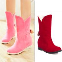 Womens Boots Ladies Fashion Bota Cano Curto Femininas Booties Bow Botinha Sapatos Mujer Footwear Cowgirl Gothic Boot Free Shippi