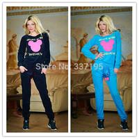 woman's sport suit cartoon mouse sweatshirt casual printed sweatshirt+pants one set clothing 3D tracksuits hoodies 2 piece set